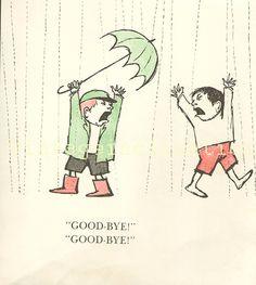 """Vintage book page illustration """"GOOD-BYE!"""""""