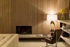 Here's One Alternative To Boring Drywall: Wood Wall Paneling: Wood Wall Paneling: No Shag Allowed Wood Panel Walls, Wood Paneling, Wood Wall, Alternatives To Drywall, Interior Architecture, Interior Design, Striped Walls, Wall Finishes, Tropical Houses