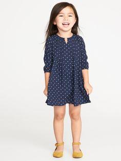e8de4f694627c Pintuck A-Line Dress for Toddler Girls