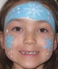 Snow Flake Face Paint.
