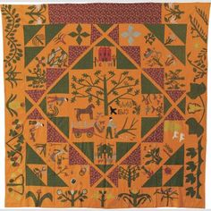 Sarah Ann Garges Appliqué Bedcover - American Folk Art Museum