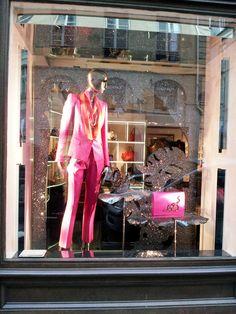 Roberto Cavalli window display Paris