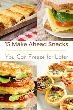 15 Make Ahead Snacks