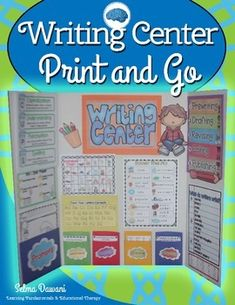 Writing center your students will enjoy!  It is a time not only to learn the craft of writing but a time for self-expression. This packet is basically print and go. You will need to print everything at the best quality and in color.