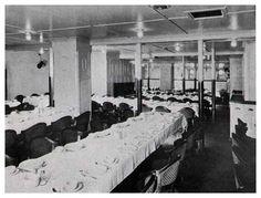 S. S. George Washington—Dining Saloon—Third Class