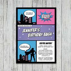 Supergirl Party Invitation | Jackal Design