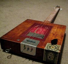 3 String guitar from a cigar box