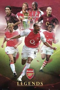 iPosters offer discounts to students on all Football posters including this great Arsenal Legends poster. Arsenal Fc, Arsenal Players, Arsenal Football, Football Soccer, Arsenal Shirt, Dennis Bergkamp, Thierry Henry, Soccer Skills, Soccer Tips