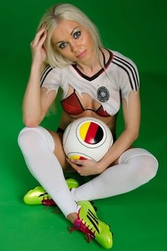 Bodypainting Fußball