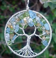Family Tree Pendant (ethorart) Tags: original tree love stone silver circle necklace crystal handmade branches roots aquamarine jewelry familytree handcrafted sterling quartz twisted treeoflife 925 citrine peridot gemstone wirewrapped birthstones treeoflifependant treependant ethora spiralknot flickrandroidapp:filter=none familytreependant