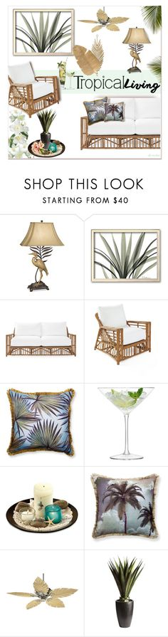 """Tropical Living ☆"" by ultracake ❤ liked on Polyvore featuring interior, interiors, interior design, home, home decor, interior decorating, Kathy Ireland, Serena & Lily, Madura and LSA International"