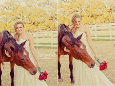 Bride and Horse by @Lisa Mclendon Woods