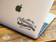 Laptop Decal - Laptop Sticker - Adventure is Out There - Macbook Decal - Car Decal - Car Sticker - Adventure Decal - Mountains Decal Macbook Stickers, Macbook Decal, Macbook Case, Laptop Decal, Car Decals, Bumper Stickers, Macbook Pro, Imac Laptop, Laptop Design