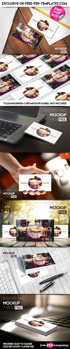 7 Free PSD Business Card Mockups on Behance