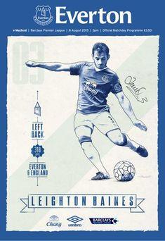 Everton Programmes-Everton v Watford - Get your Digital Subscription. Leighton Baines, Premier League Fixtures, Watford Fc, Football Posters, Barclays Premier, Barclay Premier League, Everton Fc, Football Design, Football Program
