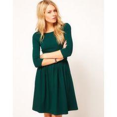 Robe d'été classique couleur unie pour femme col rond polyester