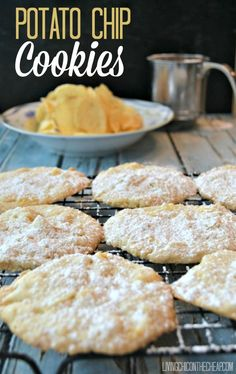 Potato Chip Cookies --- This is a Southern recipe- be warned!  These are super simple to make and require only a handful of ingredients. These cookies are not hardy and robust, but rather buttery and delicate. #recipe #cookie #southern