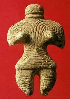 Gangu (The figure that was made with a stone).   Jomon-era. Aomori Japan. BC.1,200 - BC.800.
