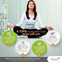 Use these 4 tips to balance your work and life! Achieve better work-life balance with Arise. Visit link in bio for details.  #ariseworkfromhome #workingmom #telecommute #ukworkfromhome #unitedkingdom #toptags #uk #HomeBiz #HomeBasedBusiness #HomeBusiness #Mompreneur #StayAtHomeDad #WorkAtHome #WorkAtHomeMom #WorkFromHomeMom #WorkFromHomeDad #homebusinessopportunity #homebusinessowner #love #beyourownboss #laptoplifestyle #sahm #wahm #infographic #worklifebalance