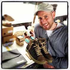 Sven Segal from Po-Zu footwear - shoes made from natural rubber, hemp, cork and coconut rusks!