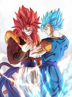 Qui est le plus puissant ? gogeta ssj4 vs vegeto ssj blue