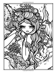 Enchanted Faces: Mermaids, Fairies & Fantasy Coloring Book: Hannah Lynn: 9781533499202: http://Amazon.com: Books