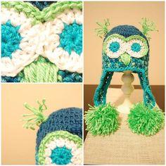 #DIY baby crochet hat, owl hat