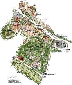 voilà le plan du forum et quelques monuments importants du forum: - basilique de Maxence et Constantin -temple de Romulus  -arcs d'Auguste - temple de César -Arc de Titus -Basilique Julia -Colonne de Phocas -Maison des Vestales -Temple de Saturne
