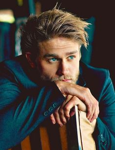 Charlie Hunnam ~ the only blonde dude I think is hotttt .... Well maybe Brad Pitt also