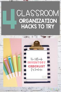 Try these elementary classroom organization hacks this school year! These ideas include everything from FREE bin labels to how to use an end of year inventory checklist to ensure you're buying the most necessary materials over the summer. This will save your time and energy!