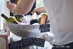Wine and champagne cooler for a housewarming party: http://divaaniblogit.fi/charandthecity/2014/07/03/ideoita-juhlien-tarjoiluun/