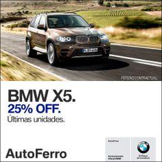 Empezamos el Lunes con esta increíble oportunidad #BMWX5 25% OFF en Auto Ferro. Te esperamos en Av Paseo Colón 1047