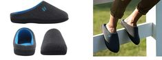 RockDove Men's Original Two-Tone Memory Foam Slipper  Best House slippers for Hardwood Floors Hard Tiles Reviews 2019 95% Cotton / 5% Spandex Easy on/off, hands-free, slip-on style with a low heel collar Waffle knit upper lets your foot breathe, keeping your slipper sweat and odor-free Memory foam insole molds to the contours of your foot for pillow soft comfort; pamper yourself after a long day at work, or that hard working husband or Dad in your life by giving his tired feet a well deserved re Hard Working Husband, Best Slippers, Hardwood Floors, Flooring, Tired Feet, Good House, Feel Tired, Waffle Knit, Contours