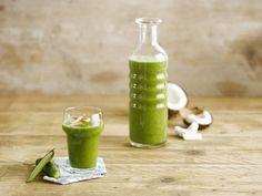 Savourez ce jus revigorant à base d'Alpro Coco Original et de délicieux ingrédients verts