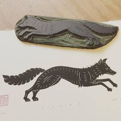Fox Linocut Print by Inkshed Press