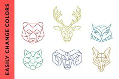 Geometric Animal Logos - Volume 1 by Adrian Pelletier on @creativemarket