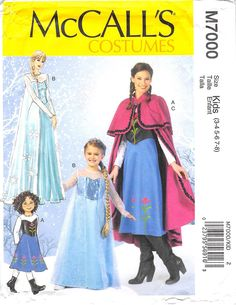 MCCALLS 7000 - FROM 2014 - UNCUT - MISSES CHILDRENS AND GIRLS COSTUMES