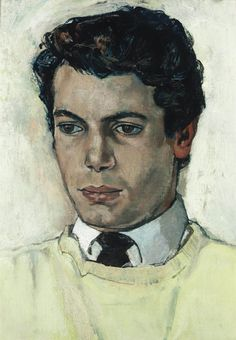 John Minton (English, 1917-1957), Portrait of a Young Man. Oil on canvas, 14 x 10 in. (35.1 x 25.4 cm.)