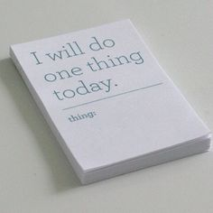 One thing every day // I should make a little whiteboard. I need something like this to make me do chores and such