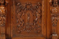 ~ 19th c. Italian Carved Walnut Server ~ liveauctioneers.com