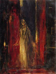 Artwork by Gustave Moreau - Study for Lady Macbeth, ca. 1851