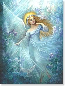 Encouragement & Support Card - An angel of light to protect you and fill you with hope. | Nadia Strelkina | 17060 | Leanin' Tree