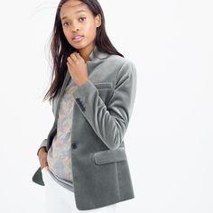 Regent blazer in velvet : blazers | J.Crew