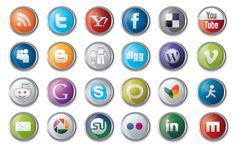 This is a great detailed, glossy, shiny social media icon pack. It can only be seen in illustrator as it contains some nice effect as blur and shadows. Button L Social Media Company, Social Media Icons, Social Media Tips, Facebook Marketing, Social Media Marketing, Marketing Ideas, Vector Icons, Vector Free, Web 2.0
