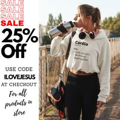 Grab our most popular design CARDIO: A walk with God to make the heart stronger and Fitter (or any product at our store) For 25% off this weekend with code ILOVEJESUS at checkout. Sale ends at the end of Sunday 29 November 2020. Shop Now! Christian Apparel, Christian Clothing, Christian Shirts, Black Friday, Cardio, Shop Now, November, Sunday, Walking