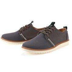 Chaussures Homme Casual Suede Large confortable Style Fashion Grises