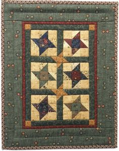 Friendship Stars with Kansas Troubles fabric...