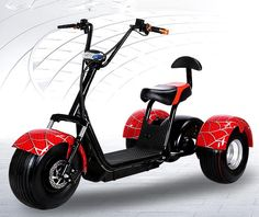 Citycoco Electric Scooter E-Bike Inch Vacuum Fat Tire Electric Three Wheel Motorcycle Bike Adult Women Men Scooter Three Wheel Motorcycles, Third Wheel, Electric Bicycle, Motorcycle Bike, Scooters, Skateboard, Fat, Vehicles, Sports