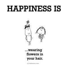 #flowers in #hair