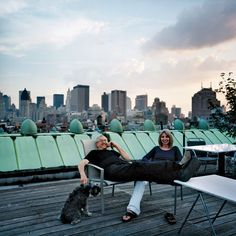 the roof of 190 Bowery and its lucky owners, Jay and Linda Maisel. this building is now for sale. amazing. photo by Leigh Davis for New York Magazine http://nymag.com/realestate/vu/2008/09/50481/ http://leighdavis.com/